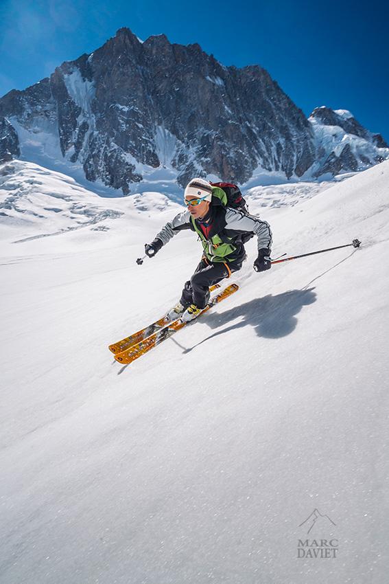 Christophe Dumarest au glacier Mallet