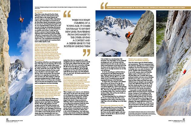 Interview sur Christophe Dumarest dans le Climb #108