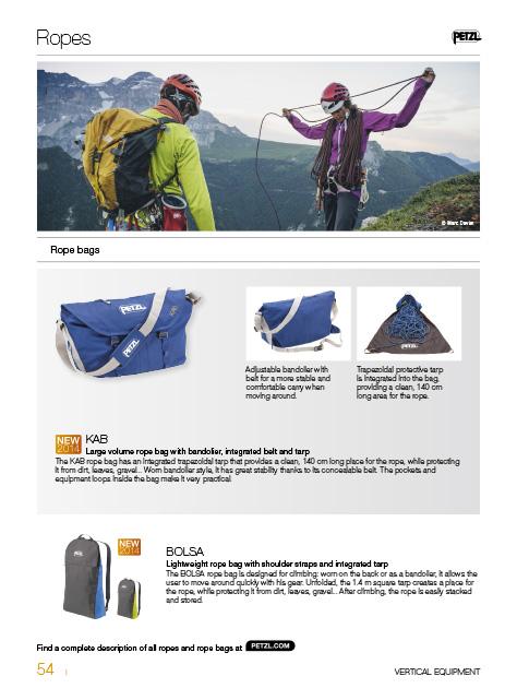 Petzl Catalogue Sport 2014 / Lovage de corde aux sommet des Gillardes