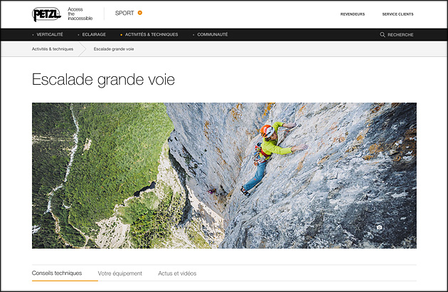 New website Petzl - multipitch