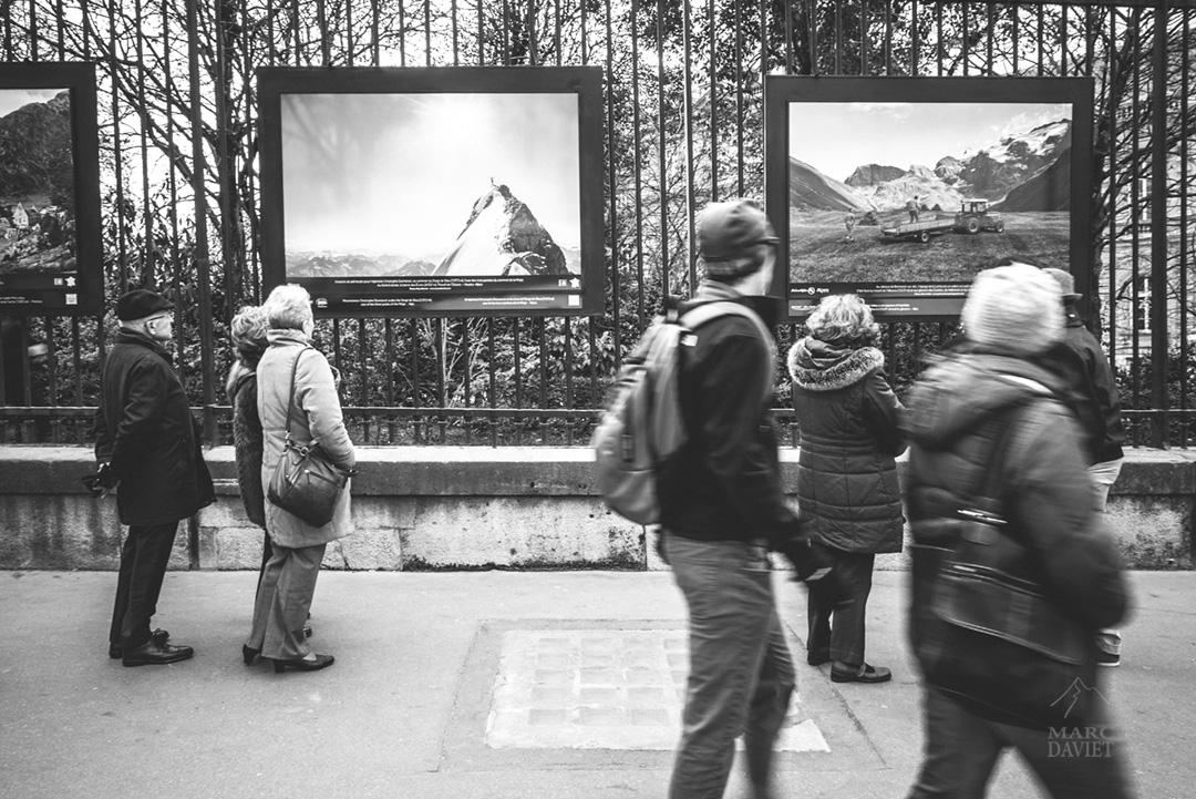 Exposition Montagnes de France, Alpiniste à la Meije
