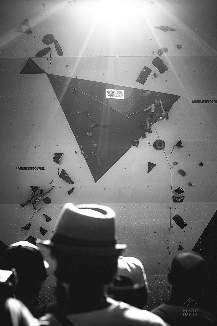 Demi-finales de la coupe du monde d'escalade de Chamonix