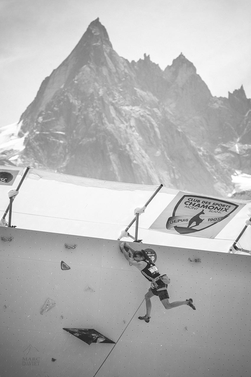 Janja Garnbret à la coupe du monde de Chamonix