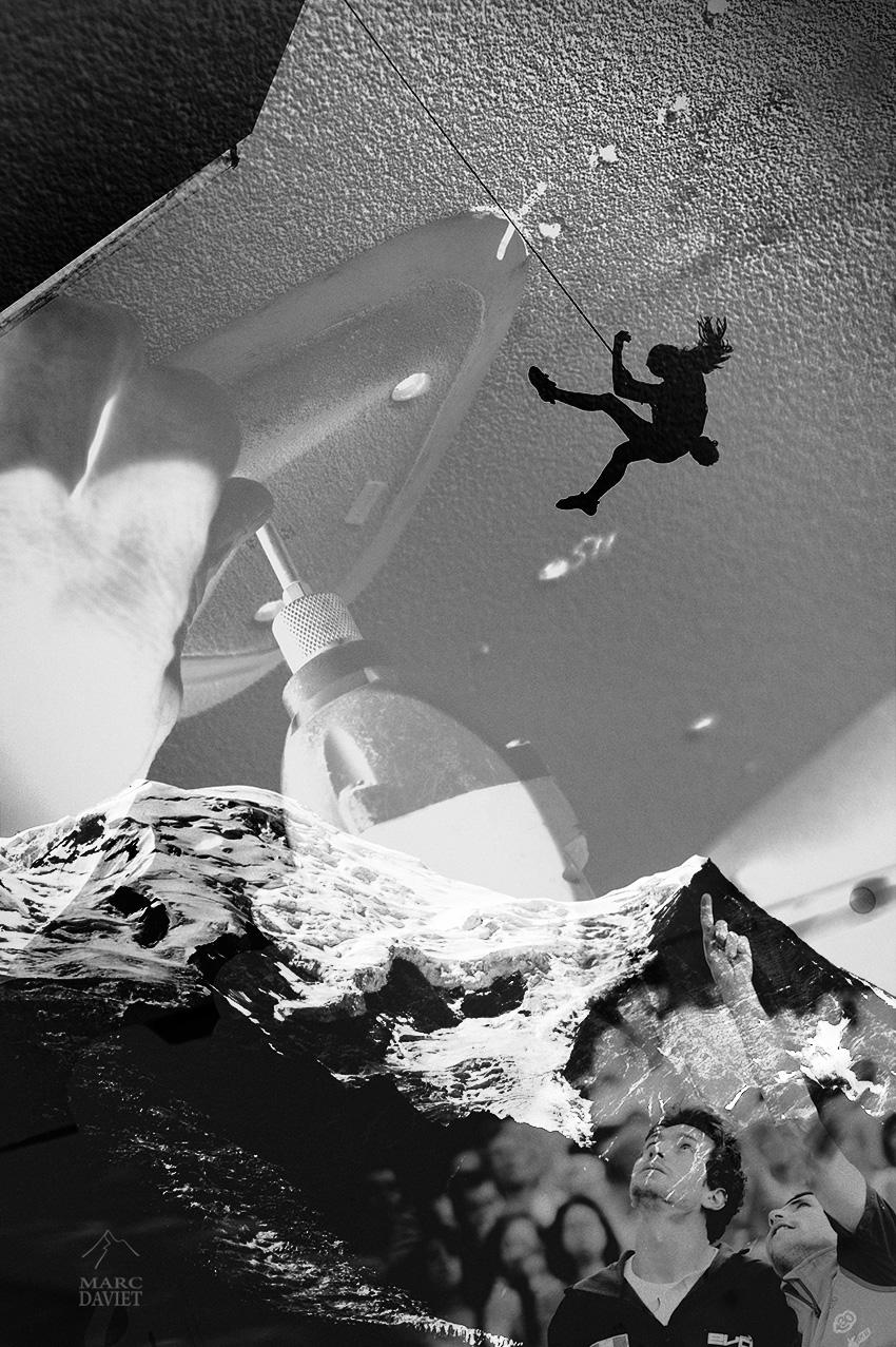Hélène Janicot à la coupe du monde d'escalade de Chamonix