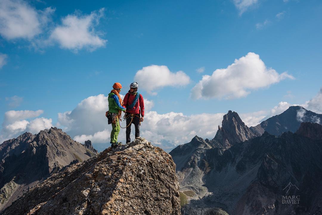 Christophe Dumarest et Julien Millot au sommet de la Pierra Menta