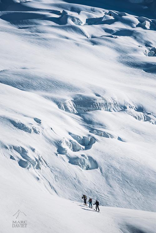 Sur le glacier de Talèfre.