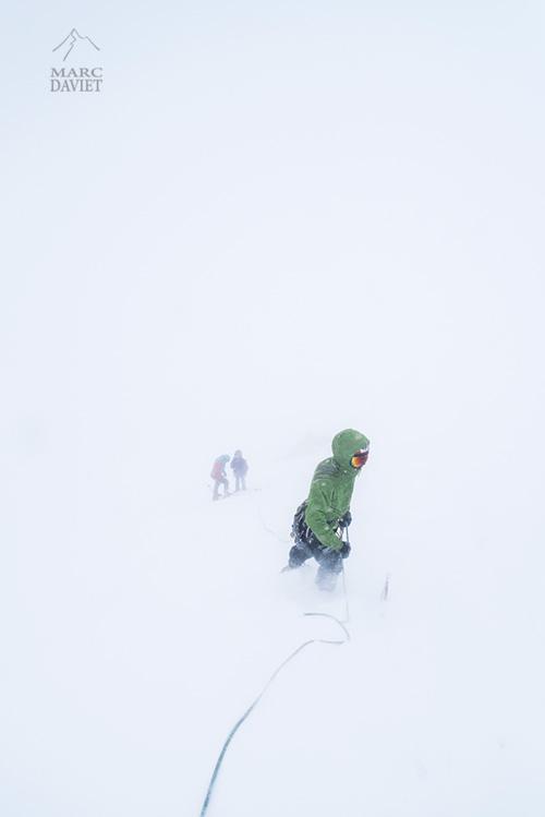Whiteout à Chamonix