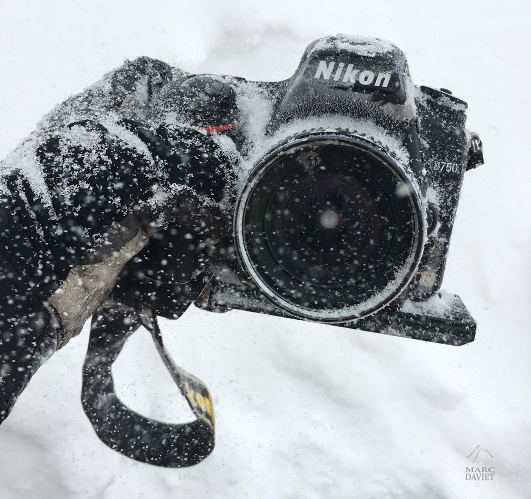 Nikon D750 plein de neige