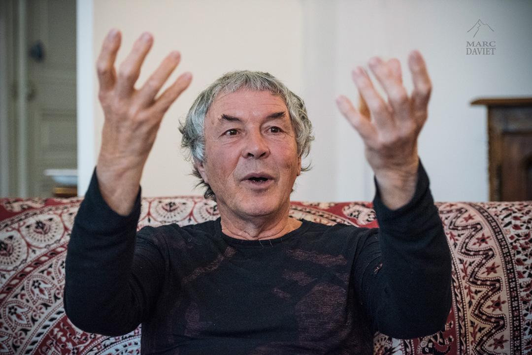 Alban Levier sur les rasoirs du dernier bloc.