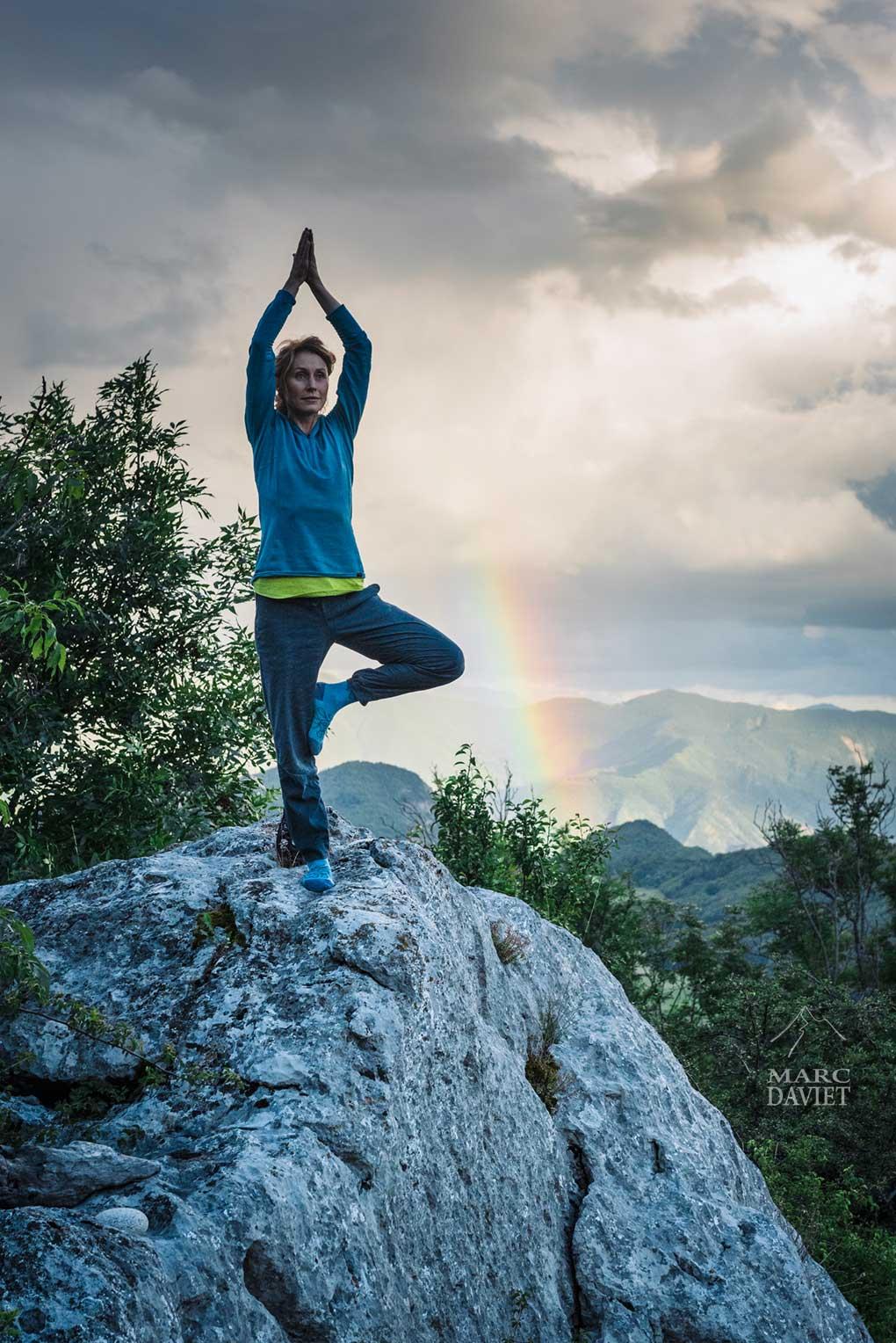 Moment de yoga pour Steph