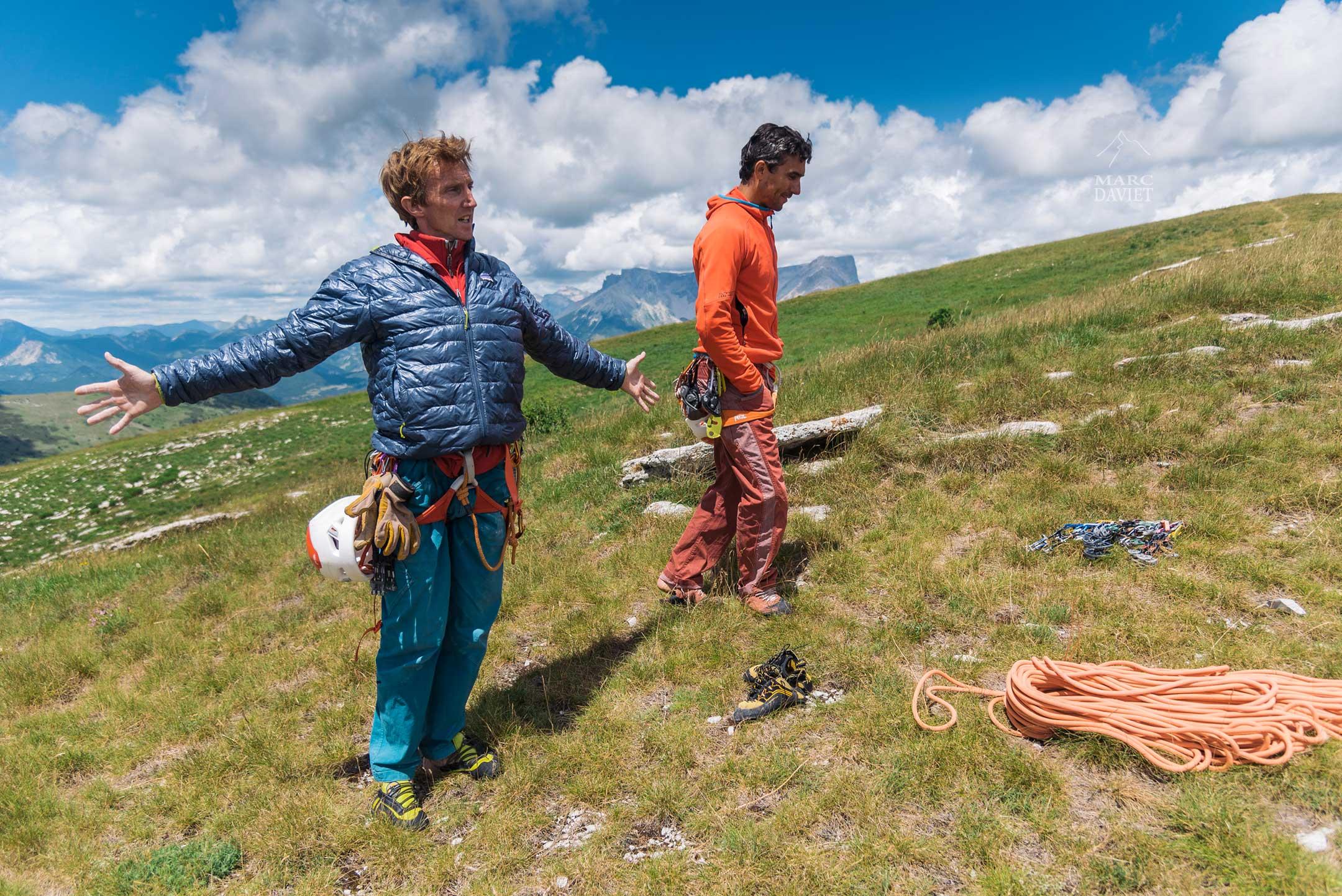 Arnaud et Christophe sur le plateau de la montagne de Ceüze.