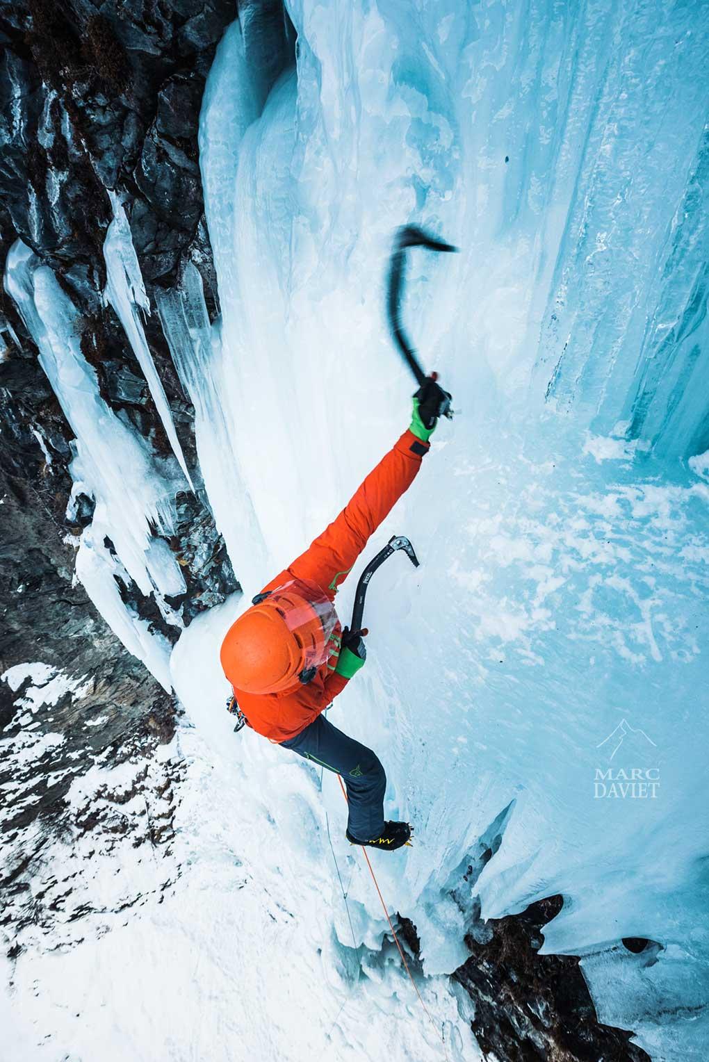 Cascade de glace à Cogne pour Aymeric Clouet